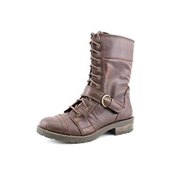 f0d1234a7389e White Mountain Brown Flyman Combat Boots